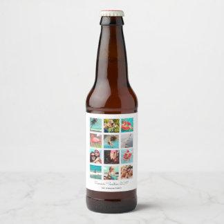 Etiqueta feita sob encomenda da cerveja da vista
