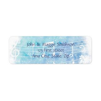 Etiqueta feita sob encomenda do músico da nota da etiqueta endereço de retorno