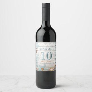 Etiqueta feita sob encomenda do vinho do número |