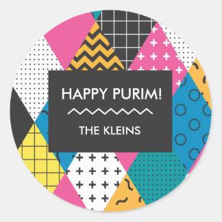 Etiqueta feliz de Purim