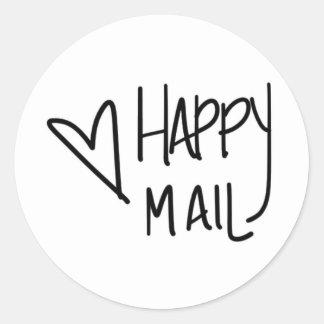 Etiqueta feliz do correio