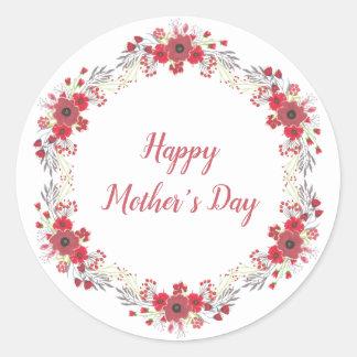 Etiqueta feliz do dia das mães