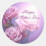 Etiqueta feliz do dia das mães adesivos redondos