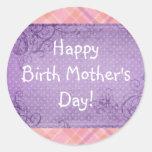 Etiqueta feliz do dia das mães do nascimento