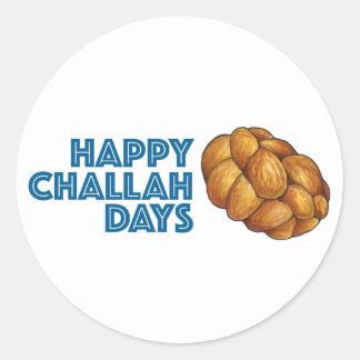 Etiqueta feliz do pão de Hanukkah Chanukah dos
