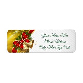 Etiqueta Feliz Natal de Bels do ouro