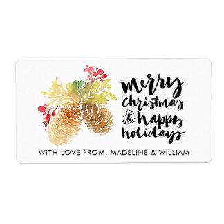 Etiqueta Feliz Natal & feliz ano novo do Natal |