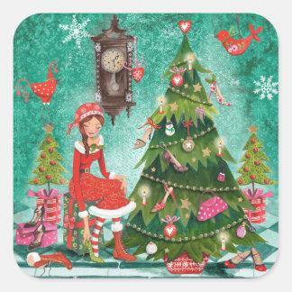 Etiqueta feminino da árvore | do feriado do Natal