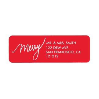 Etiqueta Feriado indicado por letras da mão vermelha