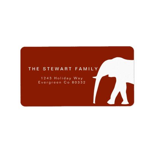 Etiqueta Feriado moderno do elefante branco |
