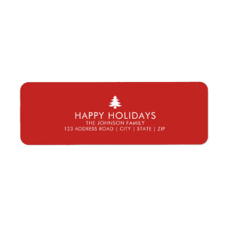 Etiqueta Feriado personalizado da árvore de Natal