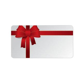 Etiqueta Feriado vermelho do Natal do arco
