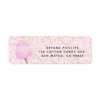 Etiqueta Festa de aniversário cor-de-rosa dos confetes do