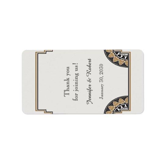 Etiqueta fino do bálsamo de bordo do casamento do