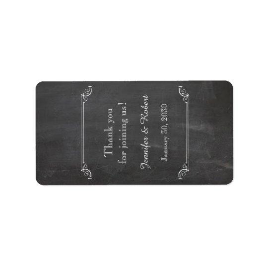Etiqueta fino do bálsamo de bordo do casamento do etiqueta de endereço
