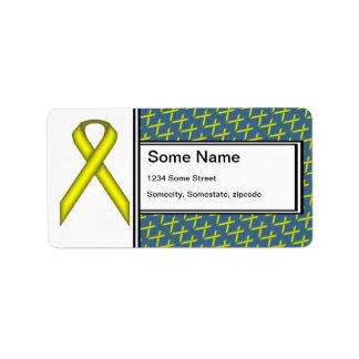 Etiqueta Fita padrão amarela por Kenneth Yoncich