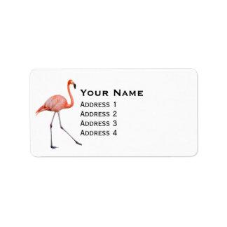 Etiqueta Flamingo cor-de-rosa
