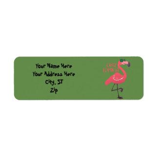 Etiqueta Flamingo louco