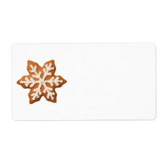 Etiqueta Floco de neve do pão-de-espécie isolado no fundo