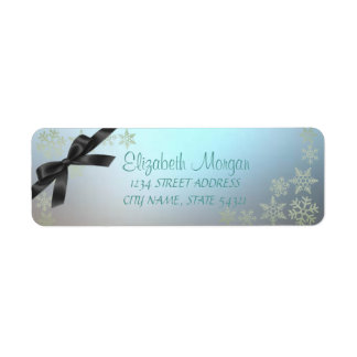 Etiqueta Flocos de neve Glittery do Natal elegante,