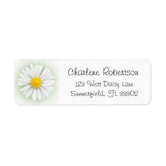Etiqueta Flor da margarida do jardim da natureza do verão
