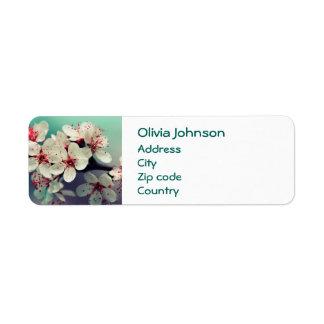 Etiqueta Flor de cerejeira cor-de-rosa, Cherryblossom,