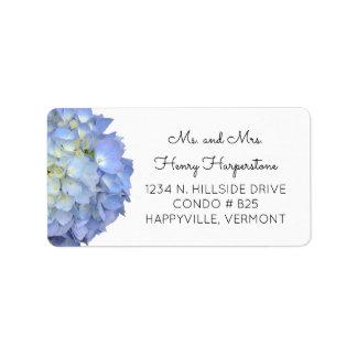 Etiqueta floral azul elegante do texto do preto do