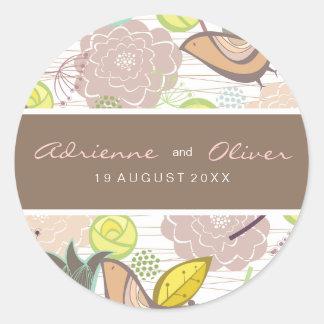Etiqueta floral da etiqueta do favor do casamento