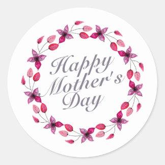 Etiqueta floral da grinalda | do dia das mães