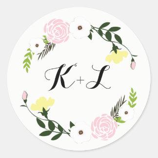 Etiqueta floral do casamento do jardim