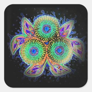 Etiqueta floral do Spirograph