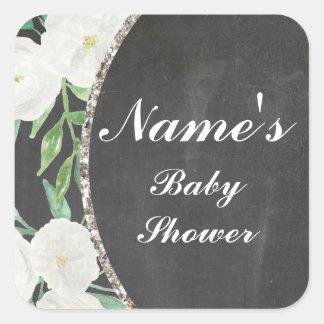 Etiqueta floral do vintage da menina ou do menino