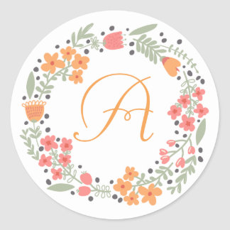 Etiqueta floral feita sob encomenda da grinalda