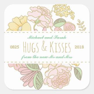 Etiqueta floral rústica do favor do casamento do