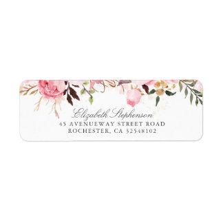 Etiqueta Flores cor-de-rosa