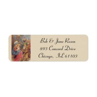 Etiqueta Flores do comedoiro da natividade de Jesus Mary