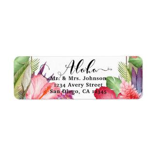 Etiqueta Flores havaianas florais botânicas tropicais que