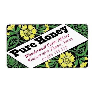 Etiqueta Flores puras do amarelo do mel