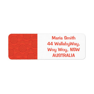 Etiqueta Fogo aborígene da arte