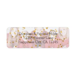 Etiqueta Folha de prova personalizada dos confetes do ouro
