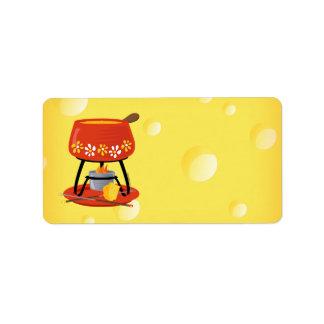 Etiqueta Fondue de queijo