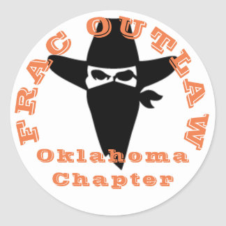Etiqueta foragido do capítulo de Frac Oklahoma
