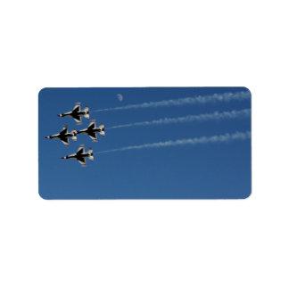 Etiqueta Formação de diamante dos Thunderbirds F-16