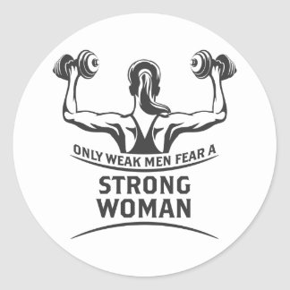 Etiqueta forte da mulher
