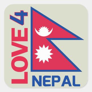 Etiqueta forte de Nepal da estada