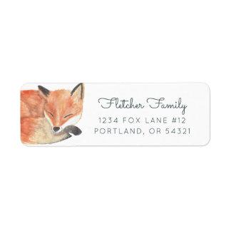Etiqueta Fox do inverno
