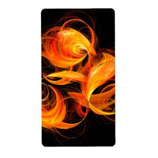 Etiqueta Fractal da arte abstracta da bola de fogo