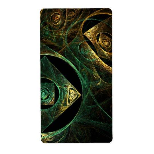 Etiqueta Fractal mágico da arte abstracta das vibrações