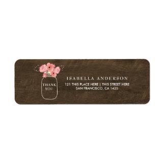Etiqueta Frasco de pedreiro & chá de fraldas florais de