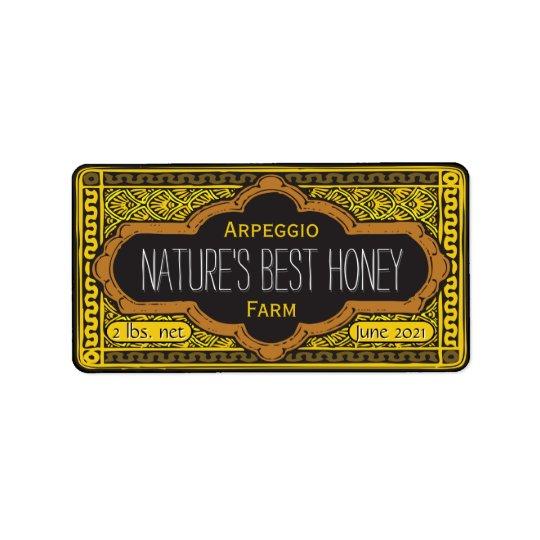 Etiqueta Frasco do mel das naturezas o melhor personalizado